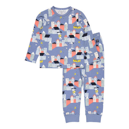 Kids Organic Pyjamas with Sleepy Town Print
