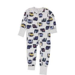 Babies Cat Print Onesie Pyjamas