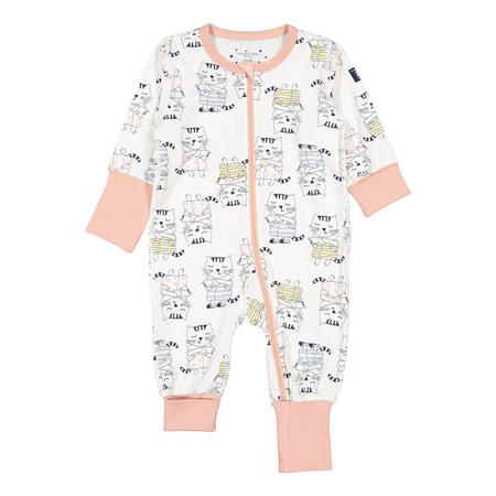Kids Cat Print Onesie Pyjamas