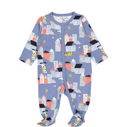 Babies Organic Sleepsuit with Town Print