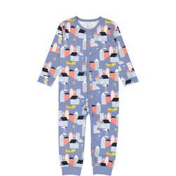Babies Organic Pyjamas with Town Print