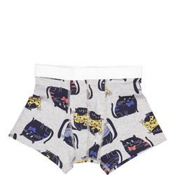 Boys Cat Print Boxers