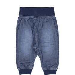 Babies Organic Cotton Denim Trousers