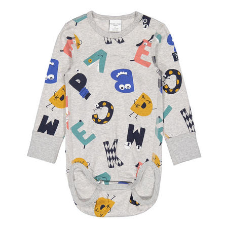 Babies Fun Letter Print Bodysuit
