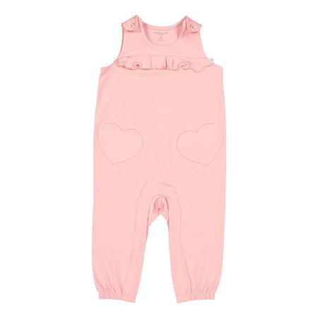 Baby Girls Organic Romper with Heart Pockets