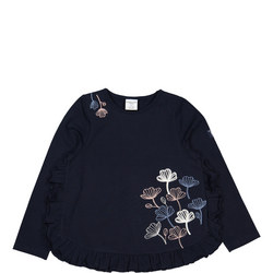 Girls Floral Embroidered Top