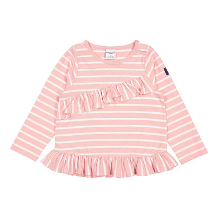 Baby Girls Striped Top with Ruffle