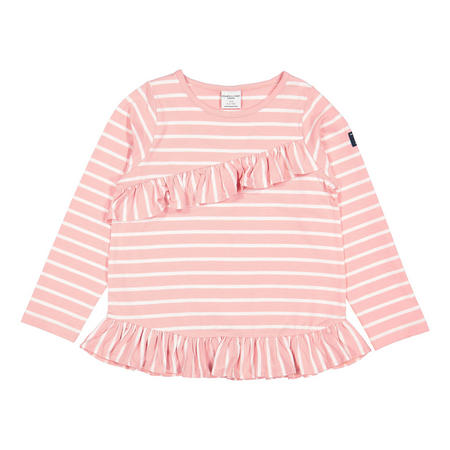Girls Striped Top with Ruffle