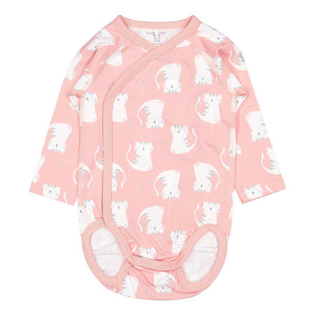 Baby Girls Cat Print Bodysuit