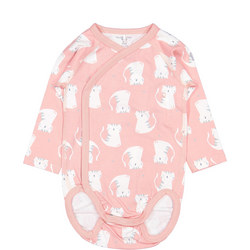 Baby Girls Cat Print Bodysuit