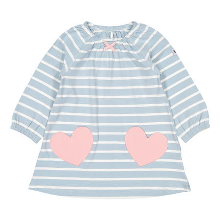 Baby Girls Striped Dress with Heart Pockets