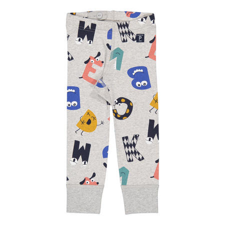 Kids Fun Letter Print Leggings