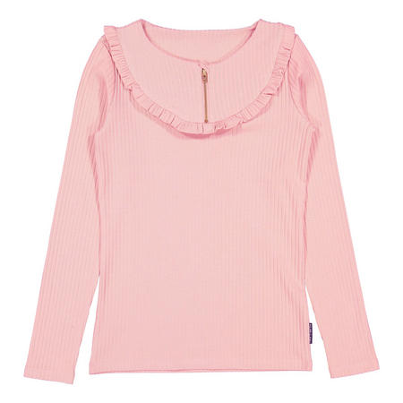 Girls Ribbed Top With Ruffles