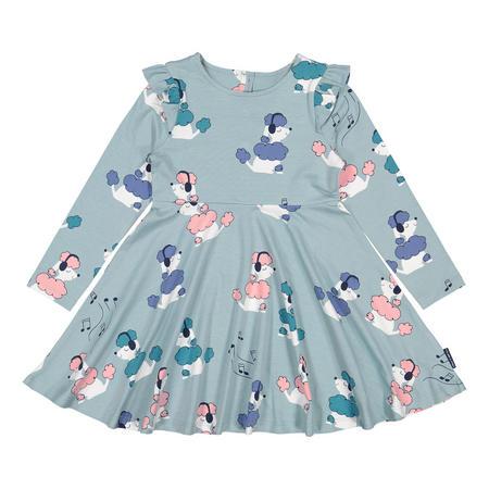 Girls Poodle Print Dress