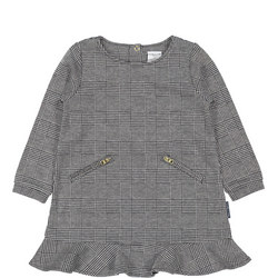 Baby Dogtooth Girls Checked Dress