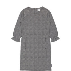 Girls Dogtooth Checked Dress