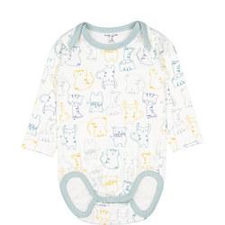 Babies Cat Print Bodysuit
