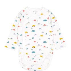 Babies Car Print Bodysuit