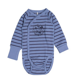 Babies Striped Embroidered Bodysuit