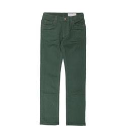 Kids Slim Fit Green Jeans