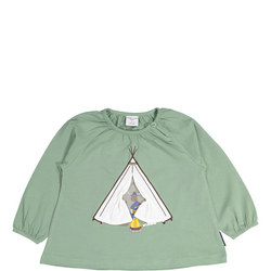 Baby Girls Camping Applique Top