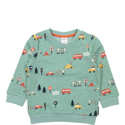 Babies Camping Print Sweat Top