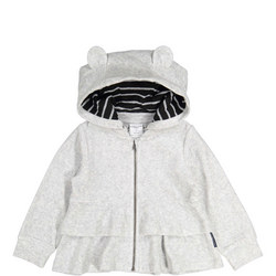 Baby Girls Ruffled Velour Cardigan