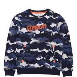 Boys Cloud Print Sweatshirt