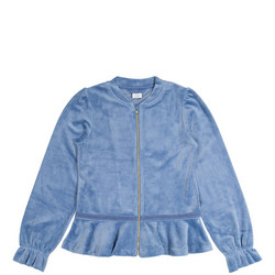 Girls Velour Zipped Jacket