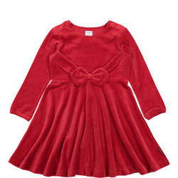 Girls Red Velour Party Dress