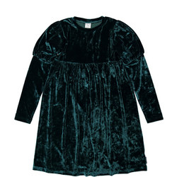 Girls Crushed Velour Dress