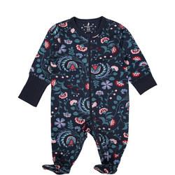 Baby Girls Scandi Floral Sleepsuit