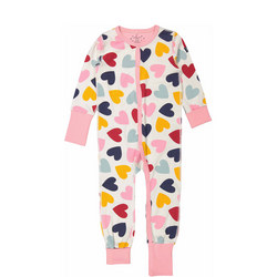 Babies Heart Print Sleepsuit