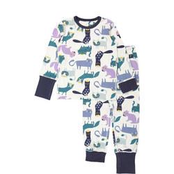 Kids Cat Print Pyjamas