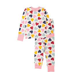 Kids Heart Print Pyjamas