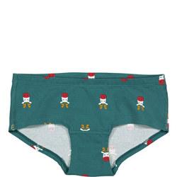 Girls Reindeer Print Briefs