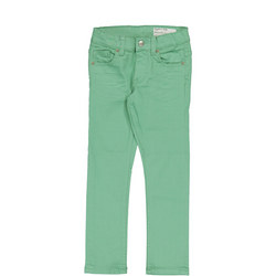 Kids Slim Fit Coloured Jeans