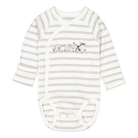 Striped Bodysuit with Embroidered Detail