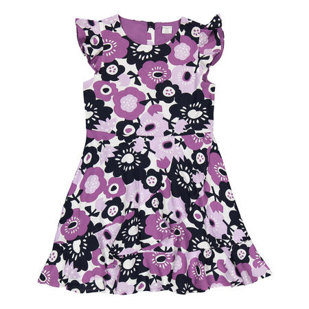 Girls Flower Print Dress