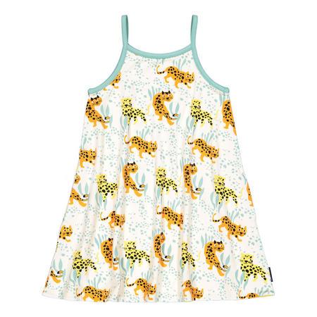 Girls Leopard Print Reversible Dress