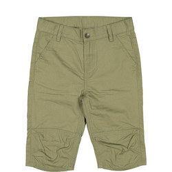 Kids Khaki Cotton Shorts