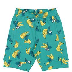 Kids Banana Print Sweatshorts
