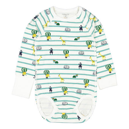 Babies Striped and Animals Print Bodysuit