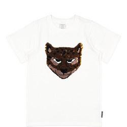 Girls Sequin Leopard T-Shirt