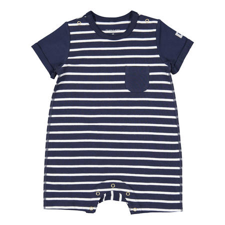 Baby Boys Smart Striped Romper
