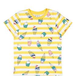 Kids Ice Cream Print T-shirt