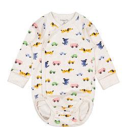 Organic Cotton Baby Wrapover Bodysuit