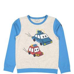 GOTS Kids Car Sweat Top
