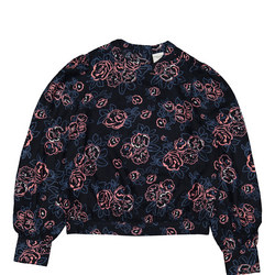 Kids Rose Print Blouse