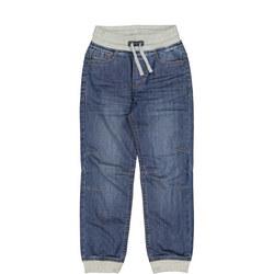Kids Cuffed Drawstring Jeans
